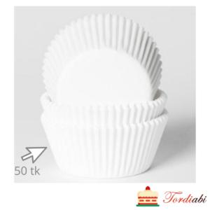 Tordiabi valged muffinivormid 50 tk