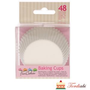Tordiabi valged muffinivormid FunCake 48 tk