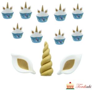 Tordiabi ükssarviku muffinidekoor suhkrust