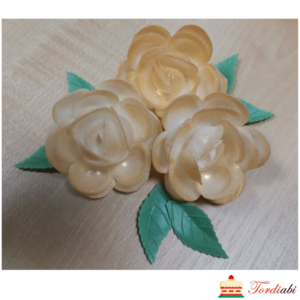 Tordiabi kuldsed varjundiga roosid 3 tk