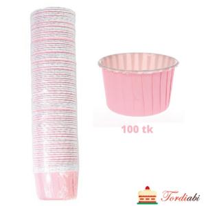Tordiabi roosad muffini küpsetusvormid 100 tk