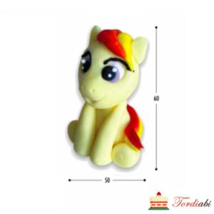 Tordiabi my pony ükssarv kollane punase tukaga
