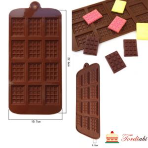 Tordiabi silikoonvorm väikesed šokolaaditahvlid