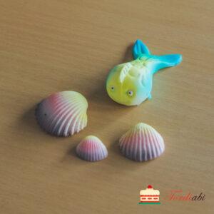 Tordiabi kala ja 3 merikarpi