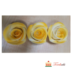 Tordiabi kollase varjundiga suhkrust roosid 3tk