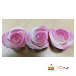 Tordiabi lilla varjundiga suhkrust roosid 3tk