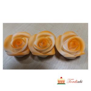 Tordiabi oranži varjundiga suhkrust roosid 3 tk
