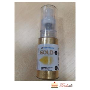 Tordiabi pump pudelis kuldne sädelus 10 g