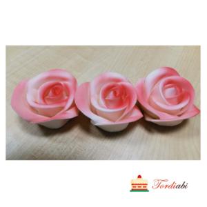 Tordiabi roosa varjundiga suhkrust roosid 3 tk