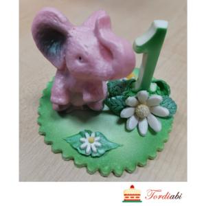 Tordiabi sünnipäevadekoor roosa elevandiga 1