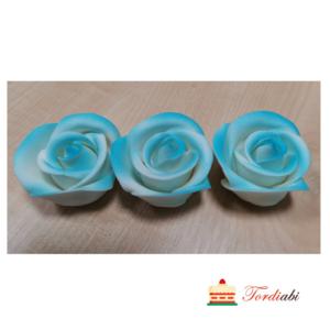 Tordiabi sinise varjundiga suhkrust roosid 3tk