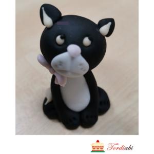 Tordiabi suhkrust must kass valge maniskiga