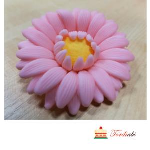 Tordiabi suhkrust roosa gerbera kollase südamikuga