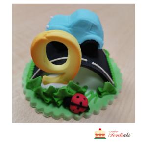 Tordiabi suhkrust sünnipäevadekoor autoga 9