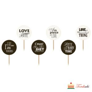 Tordiabi tassikoogi topperid sweet love 6 tk