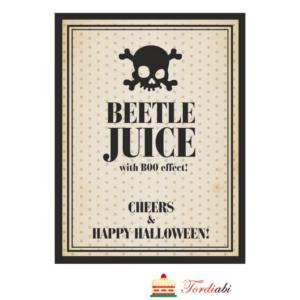 Tordiabi halloweeni joogipudeli etikett