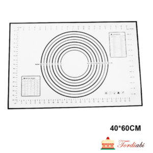 Tordiabi küpsetusmatt 40x60 musta trükiga
