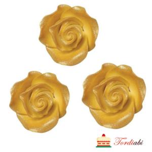 Tordiabi kollased kuldse varjundiga roosid suhkrumassist