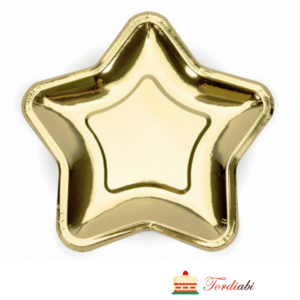 Tordiabi kuldne tähekujuline papptaldrik