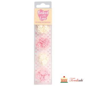 Tordiabi pisikesed suhkrust lilleõied roosad ja valged