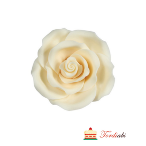 Tordiabi suhkrumassist suur valge roos