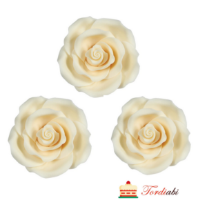 Tordiabi suhkrumassist suured valged roosid 3 tk