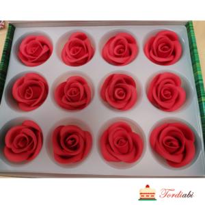 Tordiabi suhkrust punased roosid 12 tk