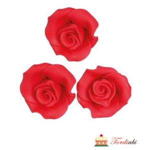 Tordiabi suhrust maasikapunased roosid