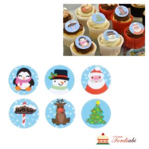 Tordiabi ümmargused väikesed jõululogod dekoorid