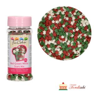 Tordiabi punased rohelised valged tähekesed suhkrust jõulupuiste