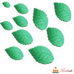 Tordiabi suhkrust rohelised kaardus lehed 10 tk