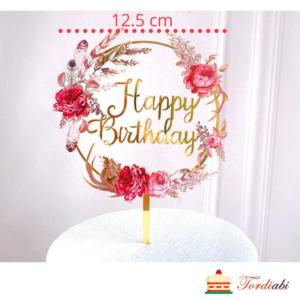 Tordiabi Happy Birthday topper lillepärjaga