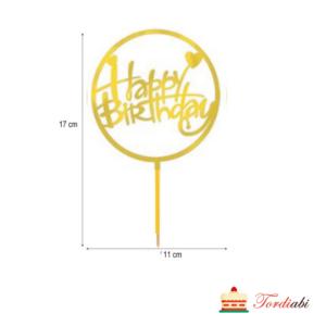 Tordiabi Happy Birthday topper ringi sees suure algustähega
