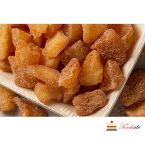 Tordiabi kuivatatud õunad suhkru ja kaneeliga