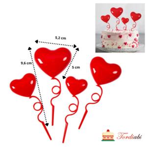 Tordiabi topperid südamekujulised õhupallid
