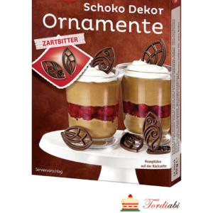Tordiabi šokolaadist lehekujulised ornamendid