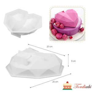 Tordiabi 3d südame vorm silikoonist
