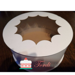 Tordiabi aknaga 20 cm ümmargune tordikarp