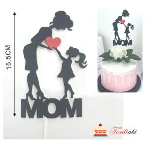 Tordiabi emadepäeva topper ema ja laps