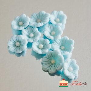 Tordiabi helesinised lilleõied pärlist südamikuga