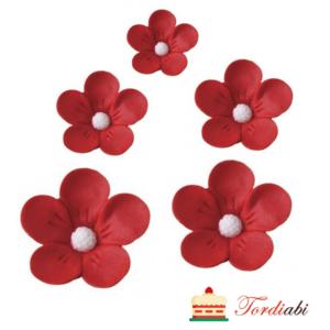 Tordiabi punased 3D lilleõied