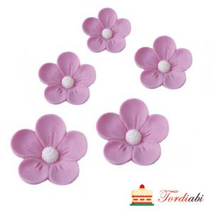 Tordiabi roosad 3D lilleõied suhkrust