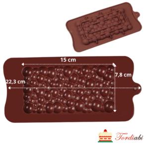 Tordiabi silikoonist mullishokolaadi tahvli vorm