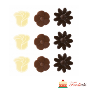 Tordiabi valgest ja tumedast šokolaadist minililled