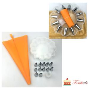Tordiabi kondiitri komplekt silikoonist pritskotiga