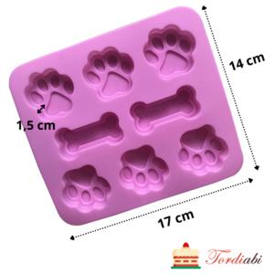 Tordiabi silikoonvorm koerakapad ja kondid