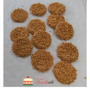 Tordiabi šokolaadist ümarad plaadikesed kuldse puruga