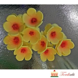 Tordiabi suhkrust kollased kevadlilled punase varjundiga südamikuga