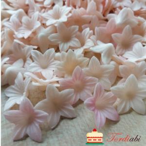 Tordiabi vahvlidekoor väikesed kellukad roosakas-beežid