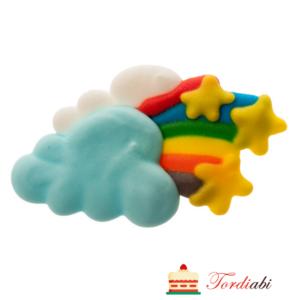Tordiabi 2D suhkrudekoor vikerkaar ja pilv